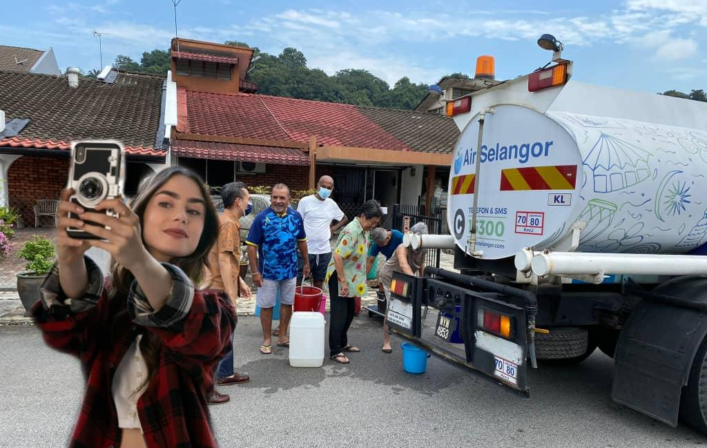 Malaysians turn to 'Emily' for laughs while waiting for water
