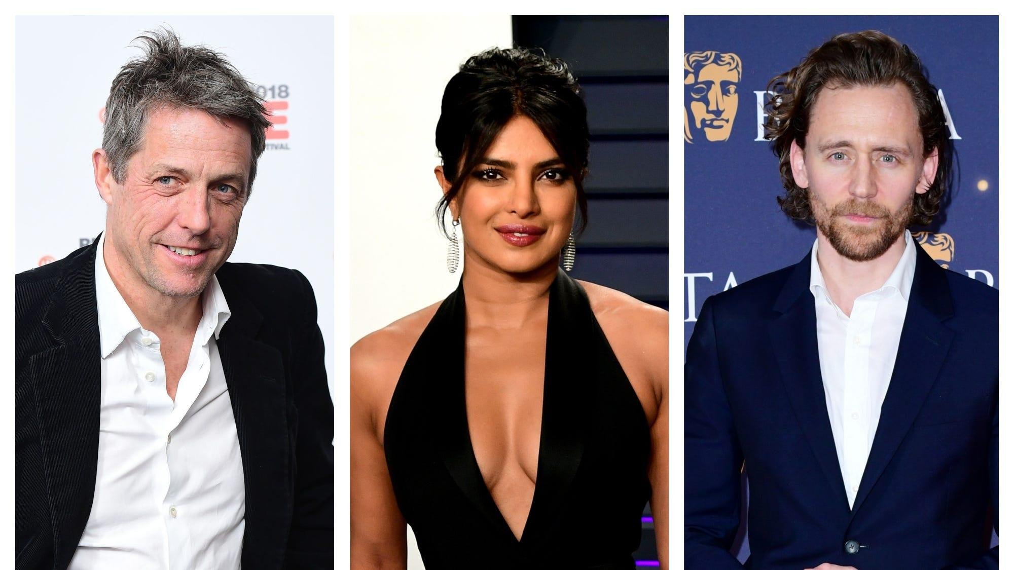 Hugh Grant, Priyanka Chopra Jonas and Tom Hiddleston among Bafta presenters