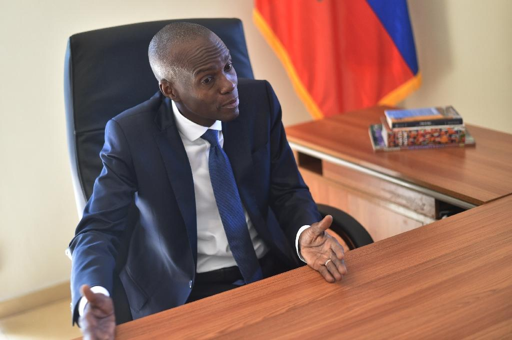 Jovenel Moise's election win ends a political crisis in Haiti that began October 2015 when he won a first round but the results were annulled because of fraud (AFP Photo/HECTOR RETAMAL)