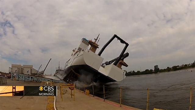 Ship launch goes horribly wrong; video goes viral