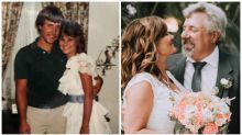 High school sweethearts marry after making a 'still single at 50 pact'