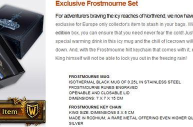 EU-exclusive Frostmourne mug and keychain set now on Blizzard store