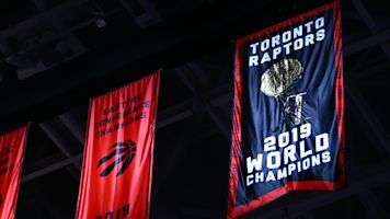 Raptors ring in new season with championship banner