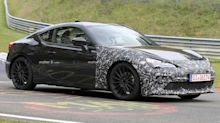 Subaru BRZ spied wearing revised front end at the 'Ring