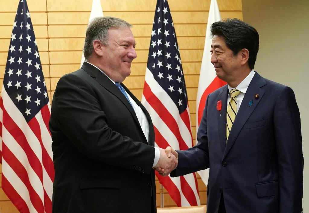 Pompeo has sought to reassure Tokyo that Washington's diplomacy will not leave Japan out in the cold (AFP Photo/Eugene Hoshiko)