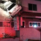 Car crashes into second floor dental practice in California