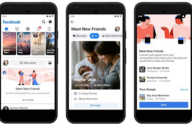 Facebook helps you grow your social circle with 'Meet New Friends'