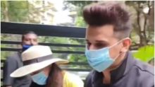 Yuvika Chaudhary and Prince Narula Step Out After Covid-19 and Dengue Recovery, Watch Video