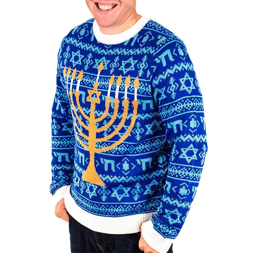 Jewish Christmas Sweater.Ugly Hanukkah Sweaters You Can Wear Every Night Of Hanukkah