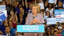 Clinton Describes Trump's Latest Twitter 'Meltdown' as 'Unhinged'