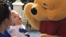 El encuentro entre 'Winnie the Pooh' y un niño con discapacidad conmueve a las redes (video)