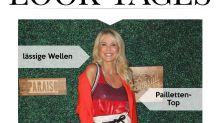 Look des Tages: Christie Brinkley begeistert in Paperbag-Shorts und roten Heels