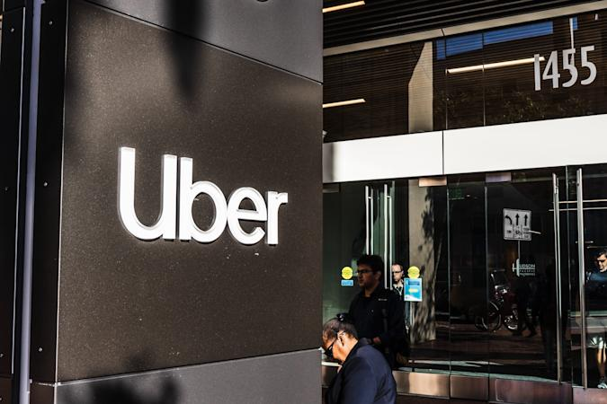 August 21, 2019 San Francisco / CA / USA - UBER headquarters in SOMA district; Uber Technologies, Inc. is an American multinational transportation network company (TNC)
