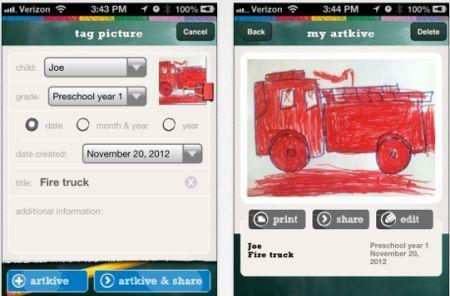 Daily iPhone App: Artkive helps you save your child's artwork for posterity
