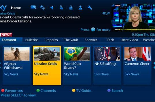 Sky News launches on-demand hub for Sky+HD boxes