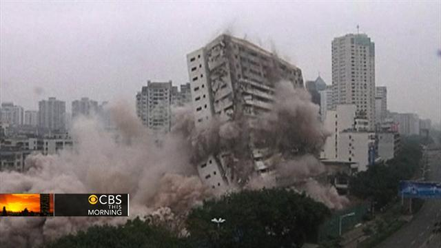 Building demo video: 18 stories fall in six seconds