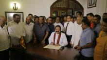 Rajapaksa Resigns As Sri Lanka's Prime Minister