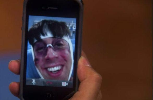 Screen Grabs: Tango supplants FaceTime for Big Bang Theory videocall