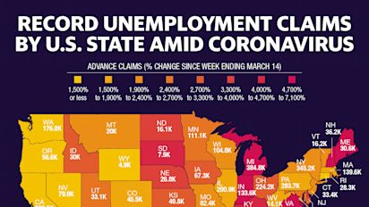 Coronavirus job losses hit these states the hardest