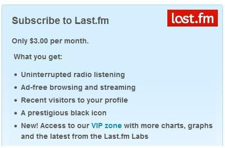 Last.fm radio app goes 'premium' on home and mobile devices, web and desktop streaming remain free