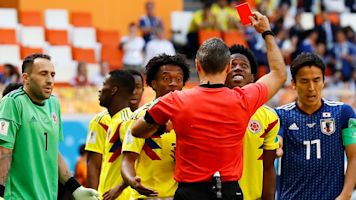 Red card signifies Colombia's disastrous start