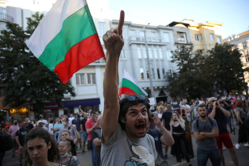 Bulgarian police arrest 18 people during anti-graft protests