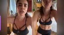 Luciana Gimenez exibe tanquinho aos 50 anos