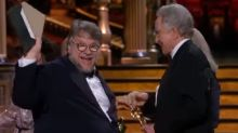 Oscars 2018: Guillermo del Toro turns Best Picture win into a joke