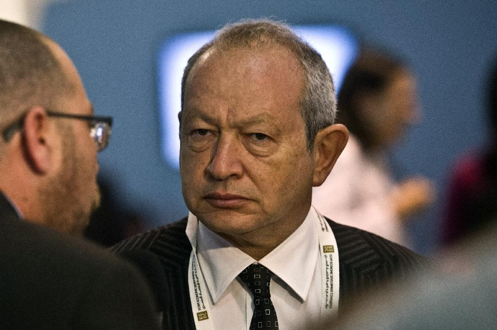 Egyptian billionaire Naguib Sawiris arrives for the Egypt Economic Development conference on March 13, 2015, in the Red Sea resort of Sharm el-Sheikh