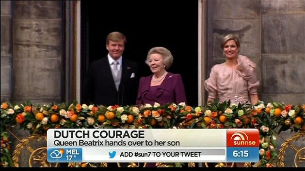 Dutch Queen abdicates for son