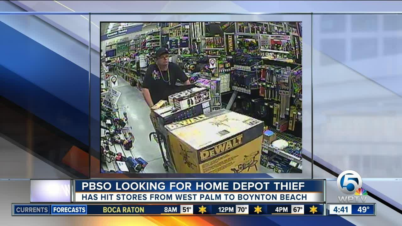 Thief Wanted For Stealing From Palm Beach Co Home Depot Stores Video