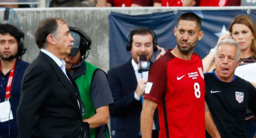 Bruce Arena and Clint Dempsey