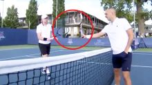 'My f***in racquet': Tennis players in ugly clash over 'handshake'