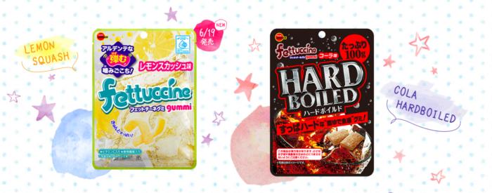 北日本fettuccine軟糖檸檬蘇打飲可樂硬軟糖