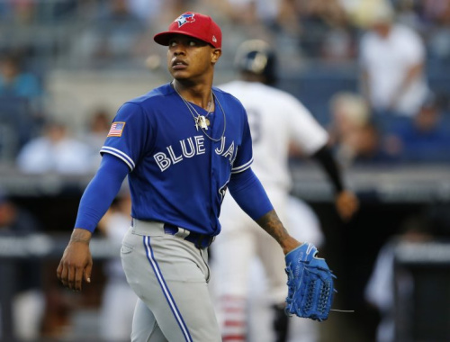 Would the Blue Jays really trade young star Marcus Stroman? (AP)