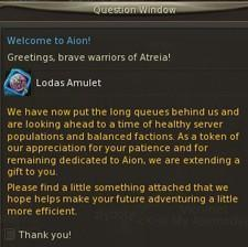 NCsoft extends a thank you to Aion players for their patience