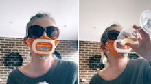 Mum reveals hilarious Aldi mask hack in viral TikTok video