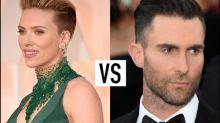 Scarlett Johansson and Adam Levine Both Rock Side Buzz: Who Wore it Best?