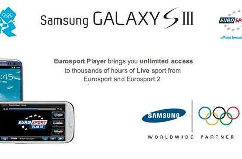 Samsung Galaxy S III owners to get free Olympics livestream from Eurosport