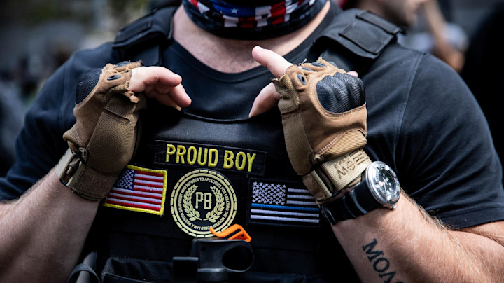 After debate callout, Proud Boys adopt Trump's words