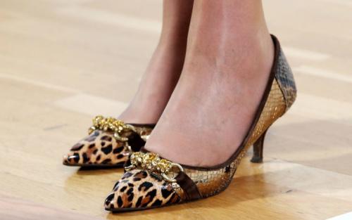 Focus has often fallen on Theresa May's heels [Photo: PA]