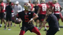49ers' Trey Lance makes brief first-team debut in near-flawless practice