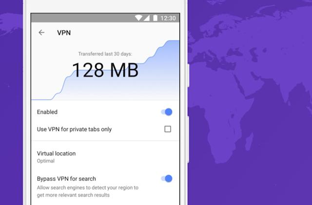 Opera's free VPN is now built into its Android browser