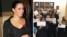 Meghan Markle praised for writing individual letters to school pupils