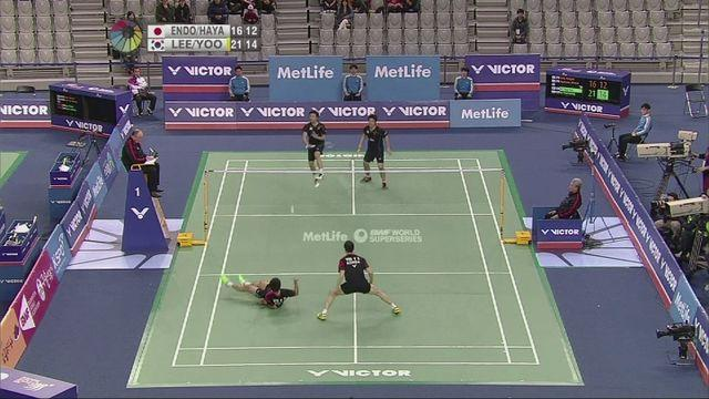 Quarter final action from the Korea Open