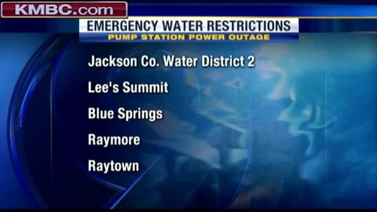 Pump station power outage prompts water restrictions