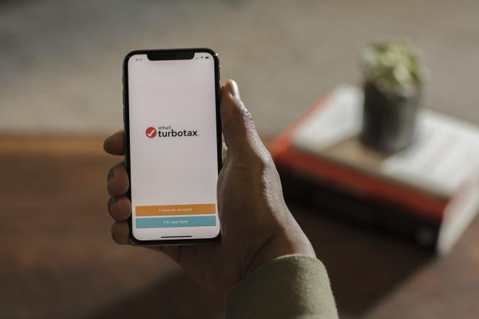 SAN FRANCISCO, CA - FEBRUARY 22:  Turbo Tax is displayed on devices on February 22, 2018 in San Francisco, California.  (Photo by Kimberly White/Getty Images for TurboTax)