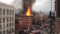 Raw Footage: NYC East Village Fire