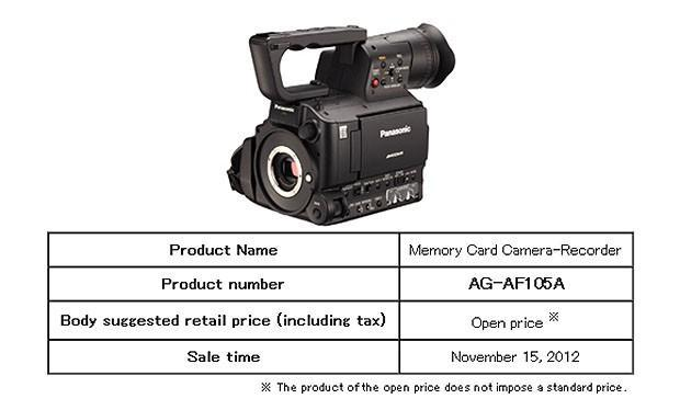 Panasonic launches tweaked AG-AF105A MFT pro camcorder with 10-bit HD video