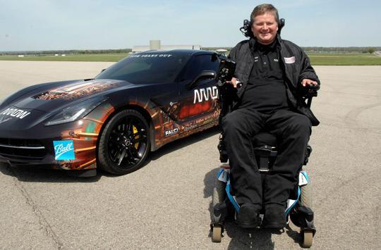 Quadriplegic racer will drive a Corvette using only his head